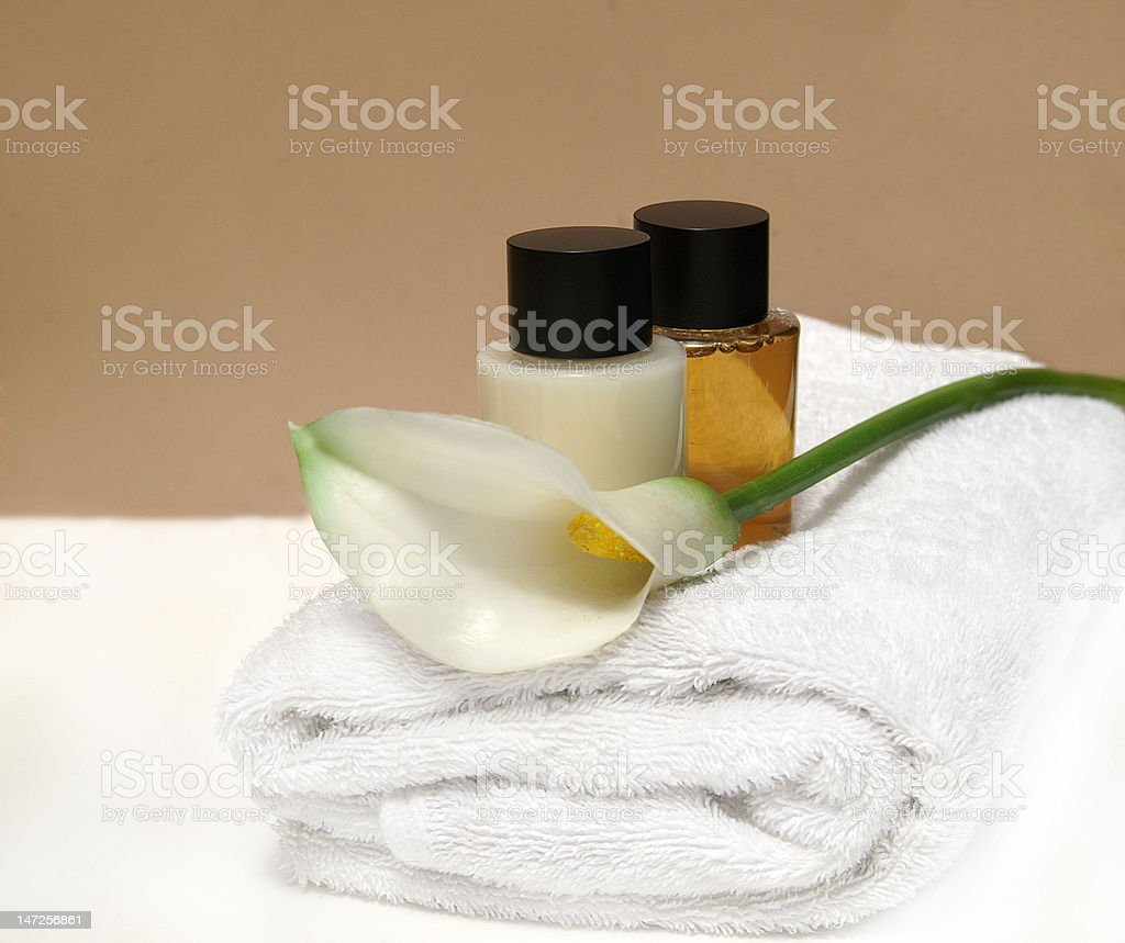 Shower products Spa royalty-free stock photo
