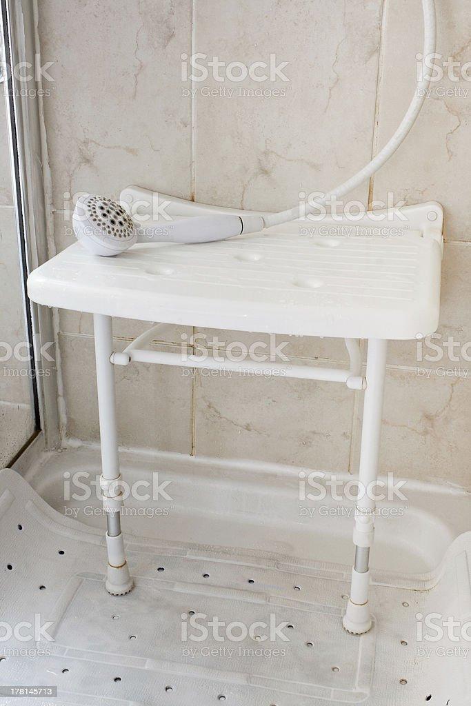 Shower seat stock photo