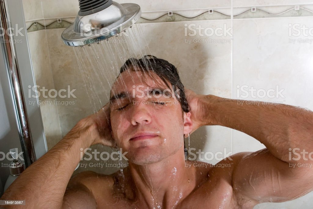 Showertime royalty-free stock photo