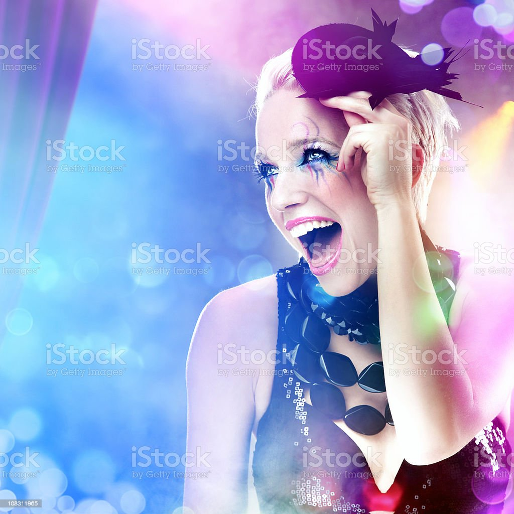 Showgirl on a stage royalty-free stock photo
