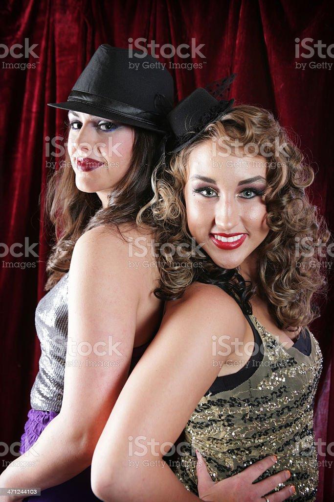 Showgirls stock photo