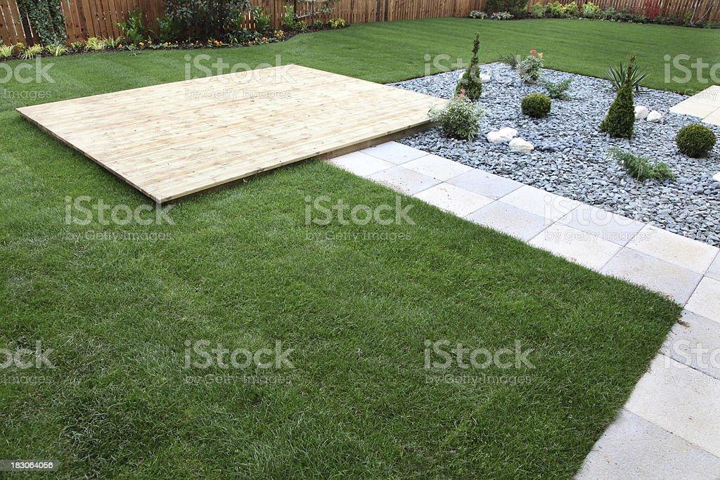 showhome back garden stock photo
