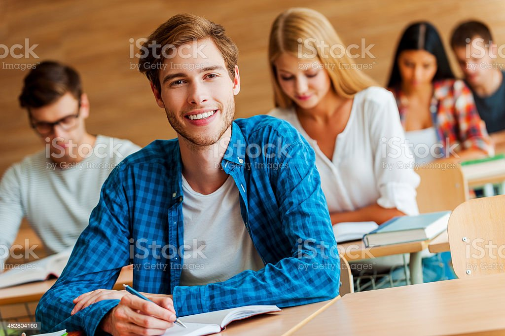 Showing a dedication to education. stock photo