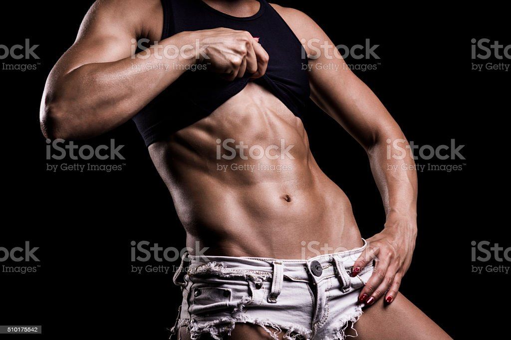 Showing abs stock photo