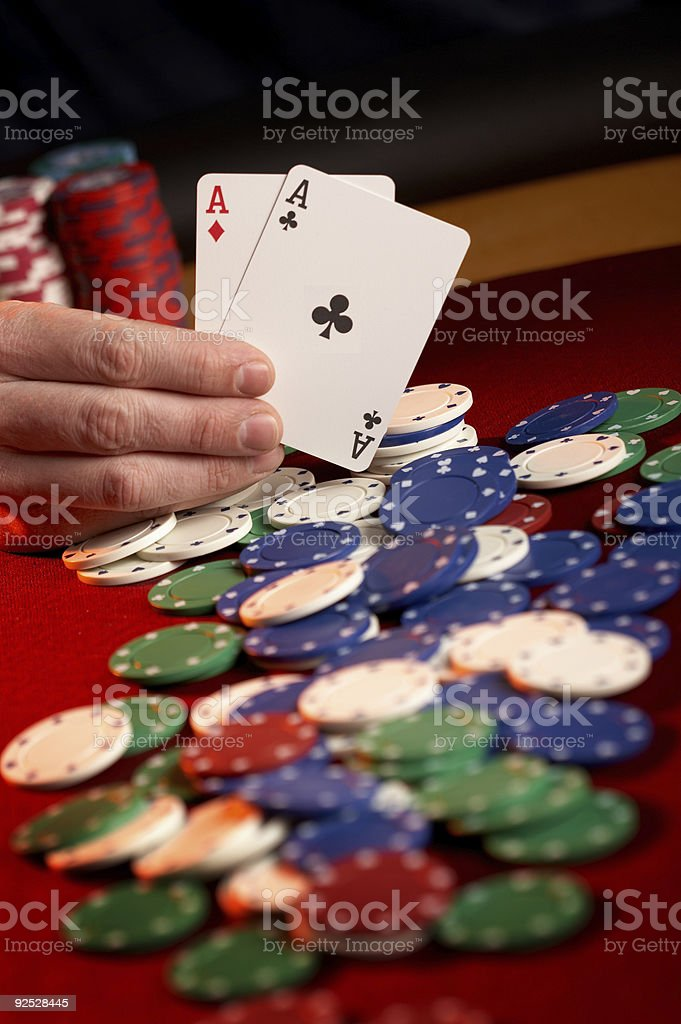 Showing Aces stock photo