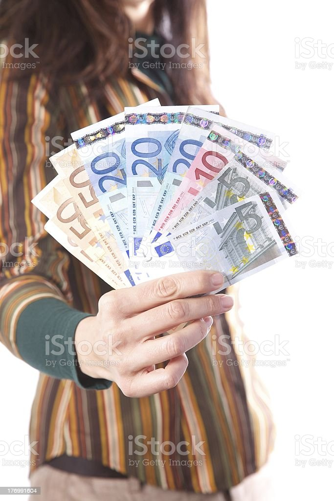 showing array of bills royalty-free stock photo