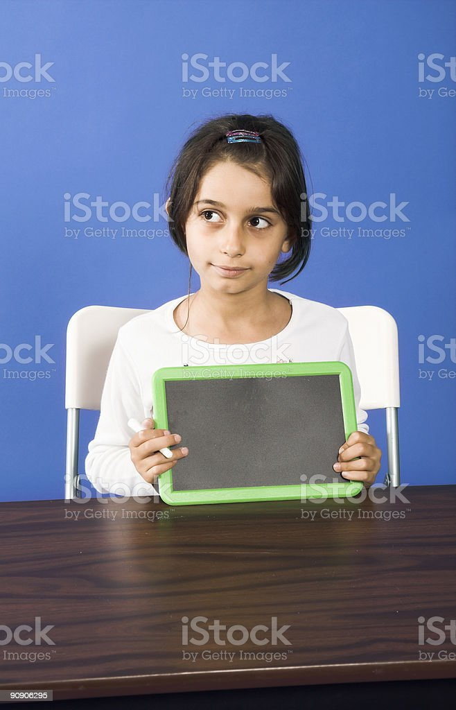showing chalkboard royalty-free stock photo