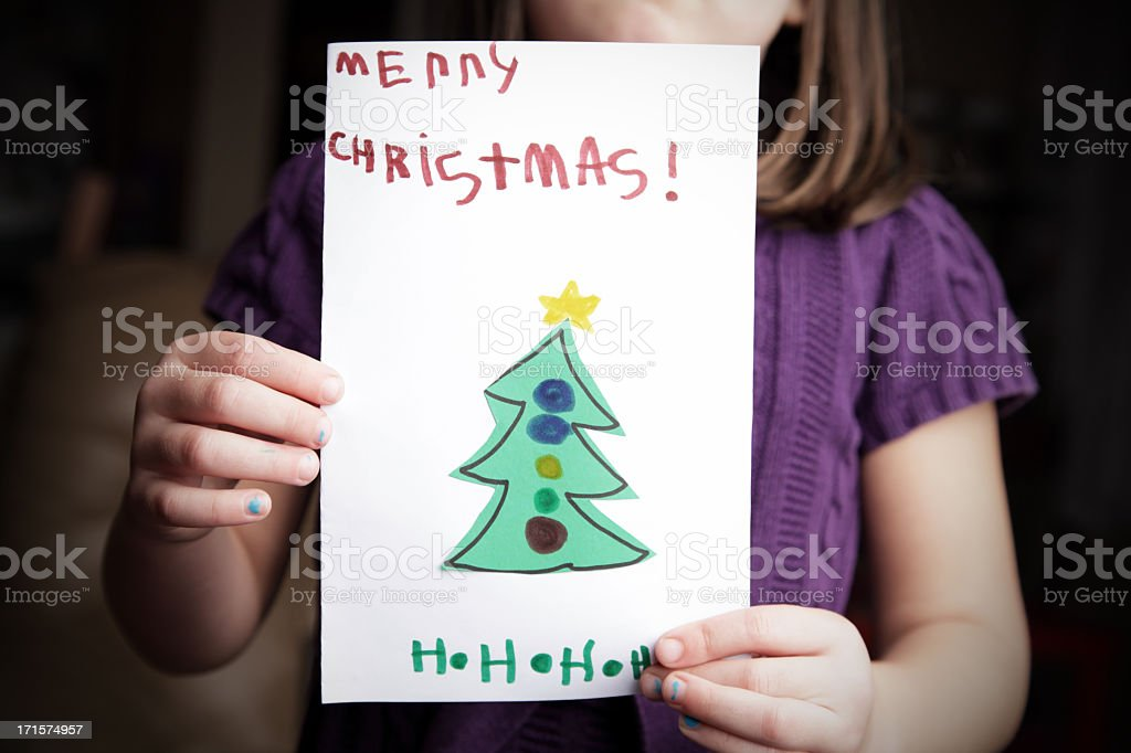 Showing Christmas Card stock photo