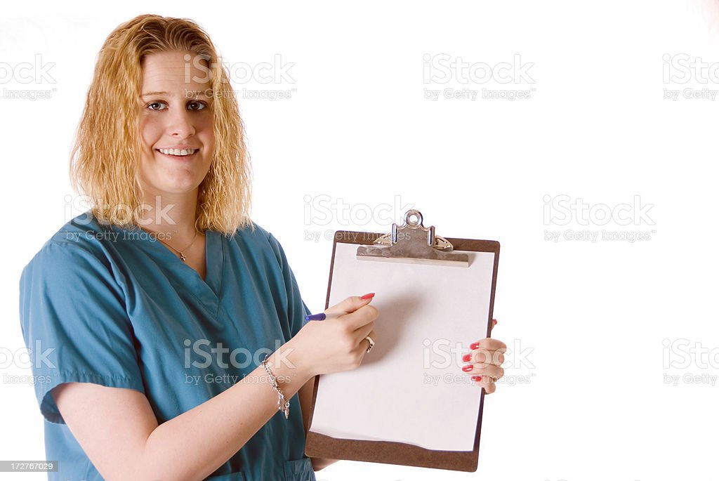 Showing Clipboard royalty-free stock photo