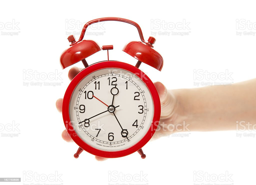 Showing Clock royalty-free stock photo
