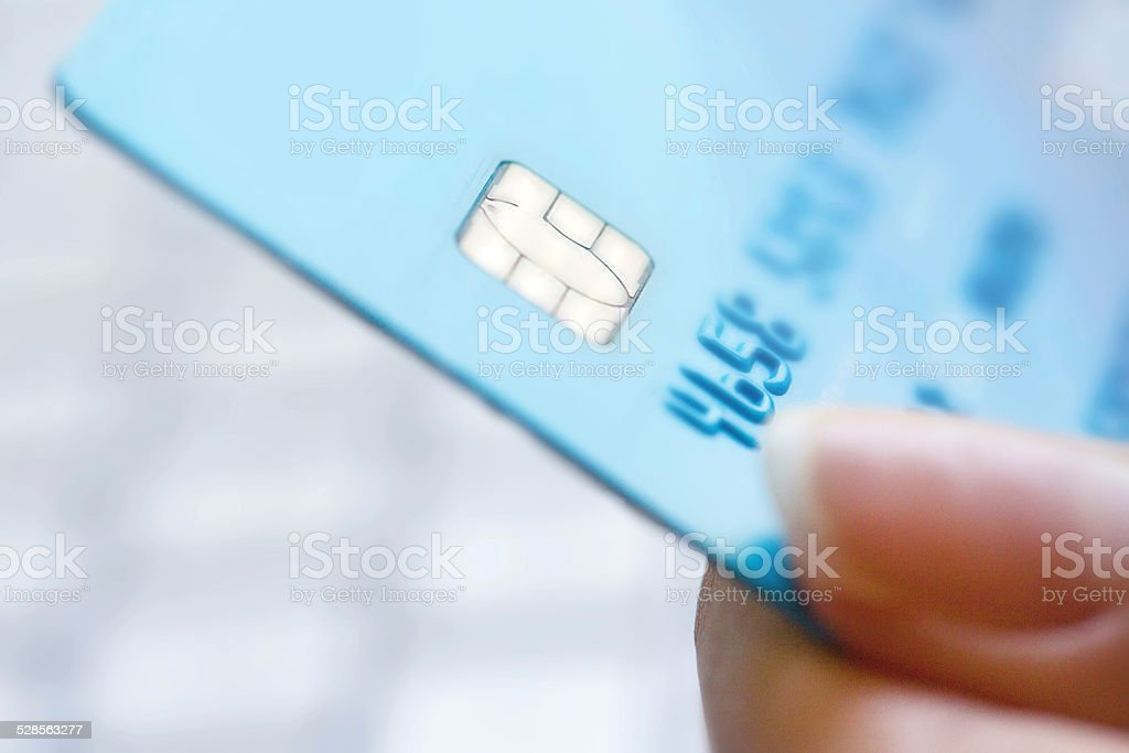 Showing credit card stock photo