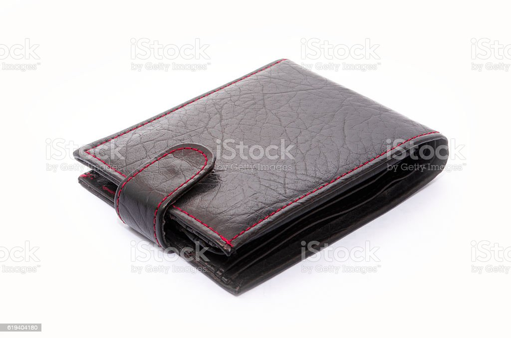 Showing empty wallet on white royalty-free stock photo