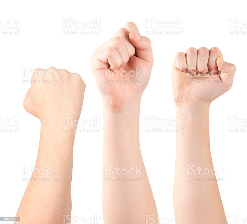 Showing fist stock photo