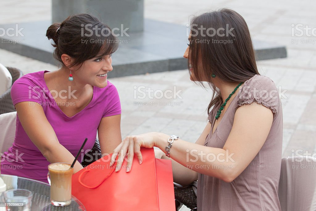 Showing gifts royalty-free stock photo