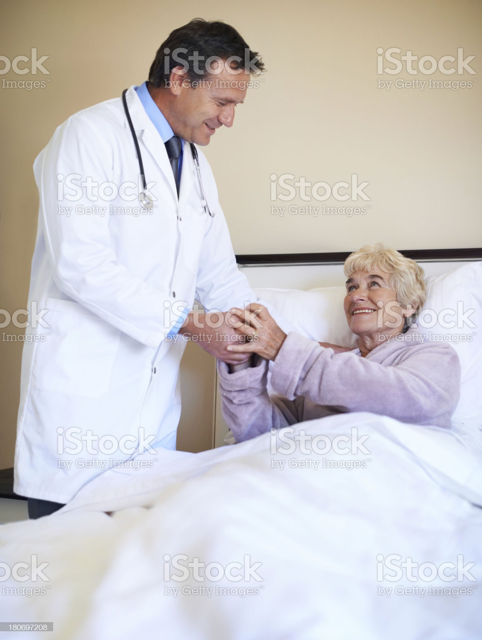 Showing her appreciation royalty-free stock photo
