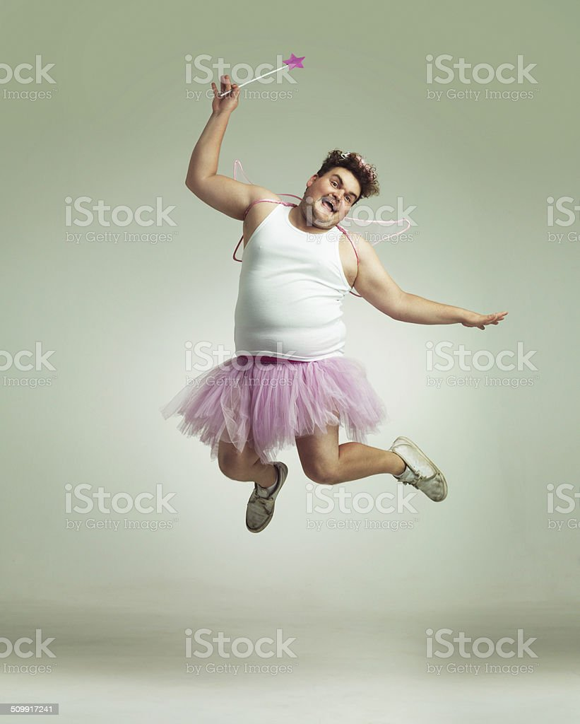 Showing his lighter side! stock photo