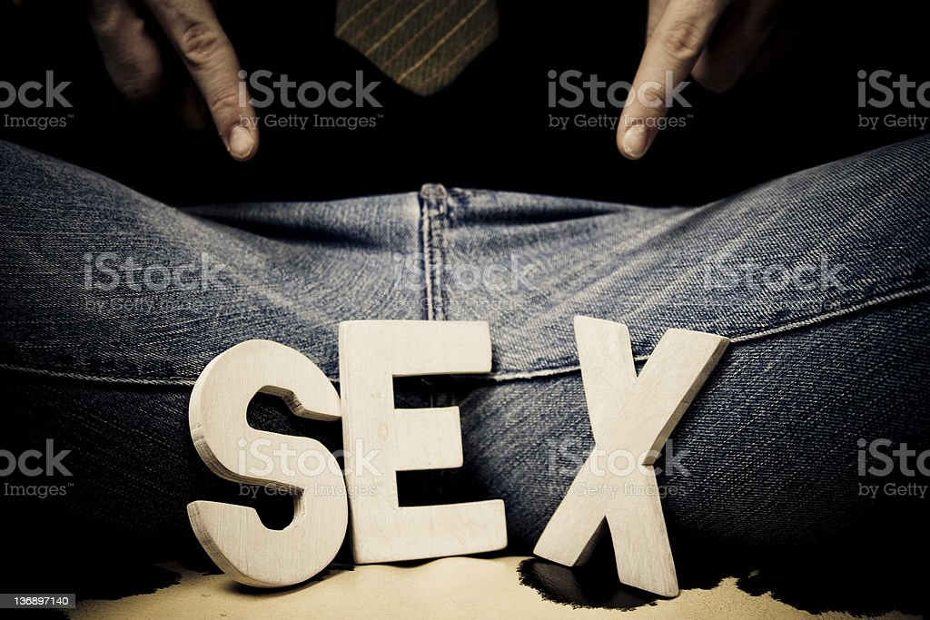 Showing his... sex... royalty-free stock photo