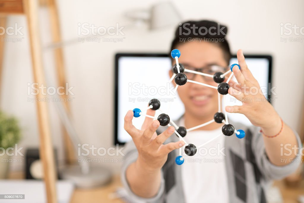 Showing molecule stock photo