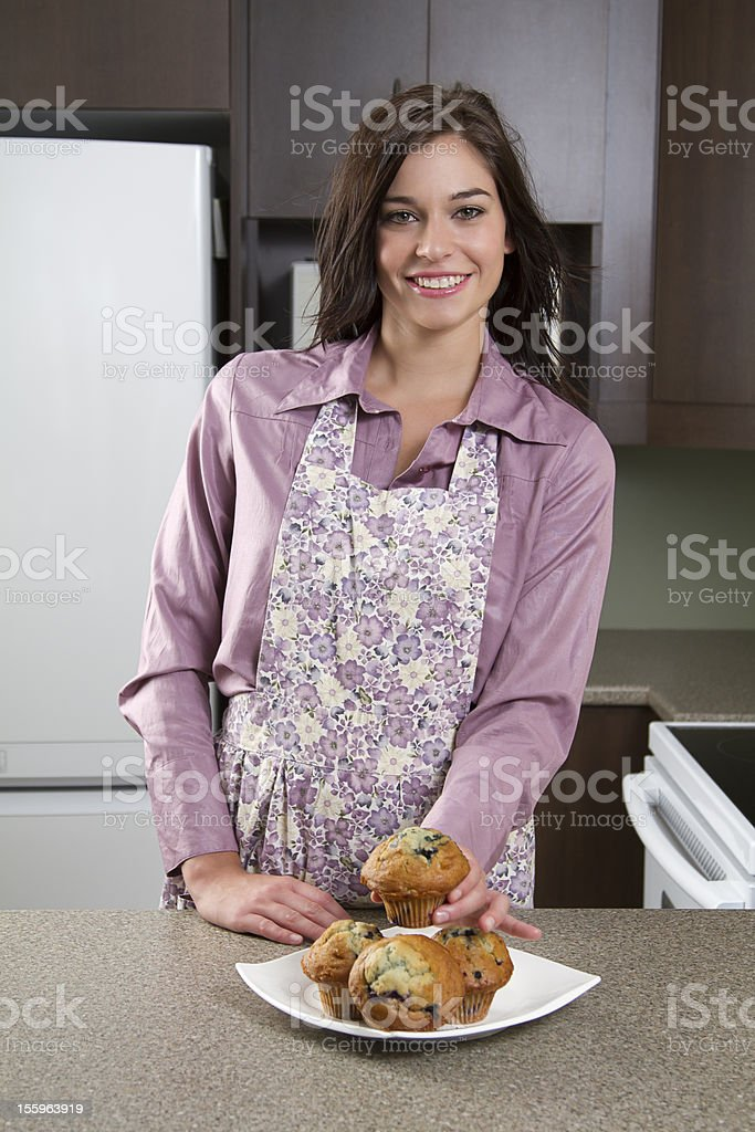 Showing muffins royalty-free stock photo
