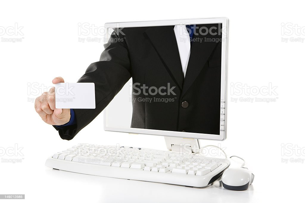 Showing name card royalty-free stock photo