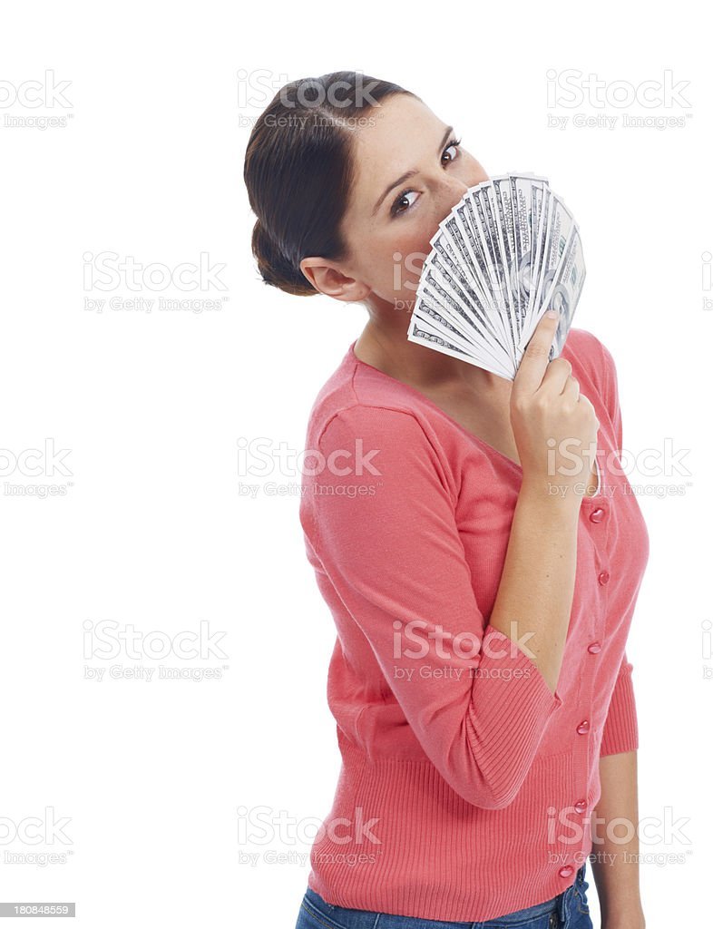 Showing off her wealth royalty-free stock photo