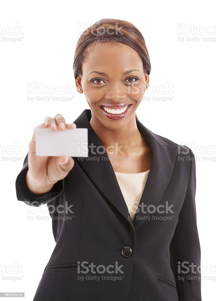 Showing off my business profession royalty-free stock photo