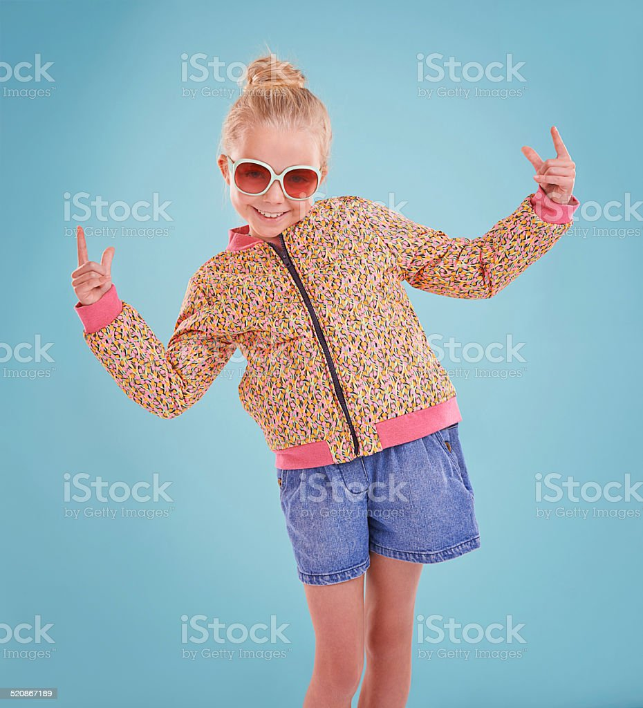Showing off my funky moves! stock photo