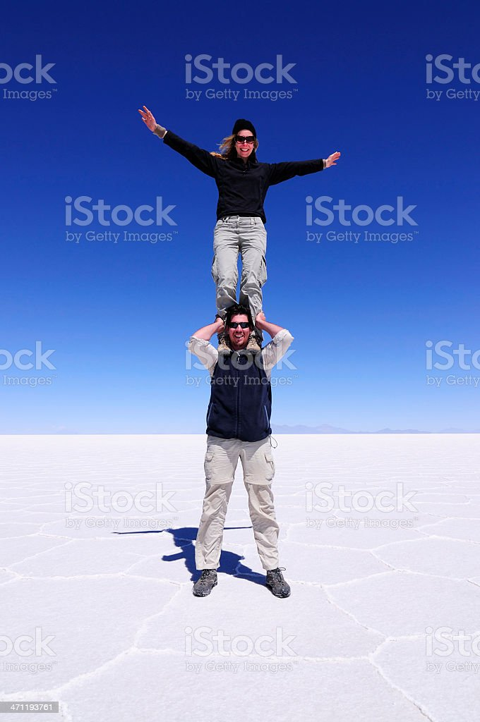 Showing Off on the Salt Flats royalty-free stock photo