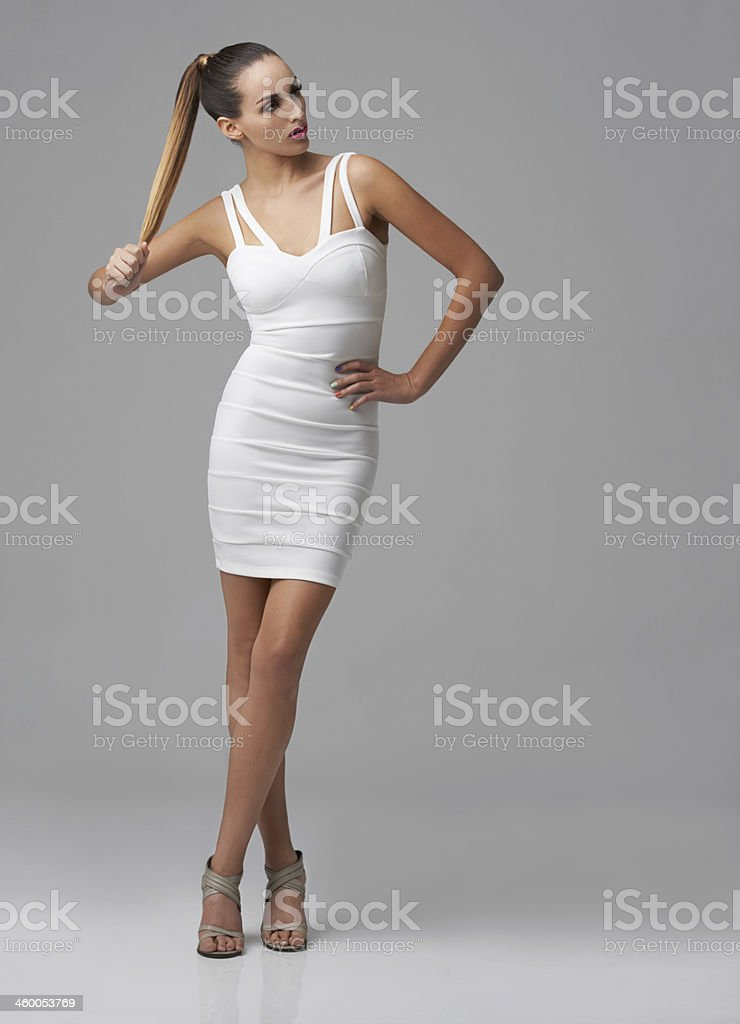 Showing off the latest styles stock photo