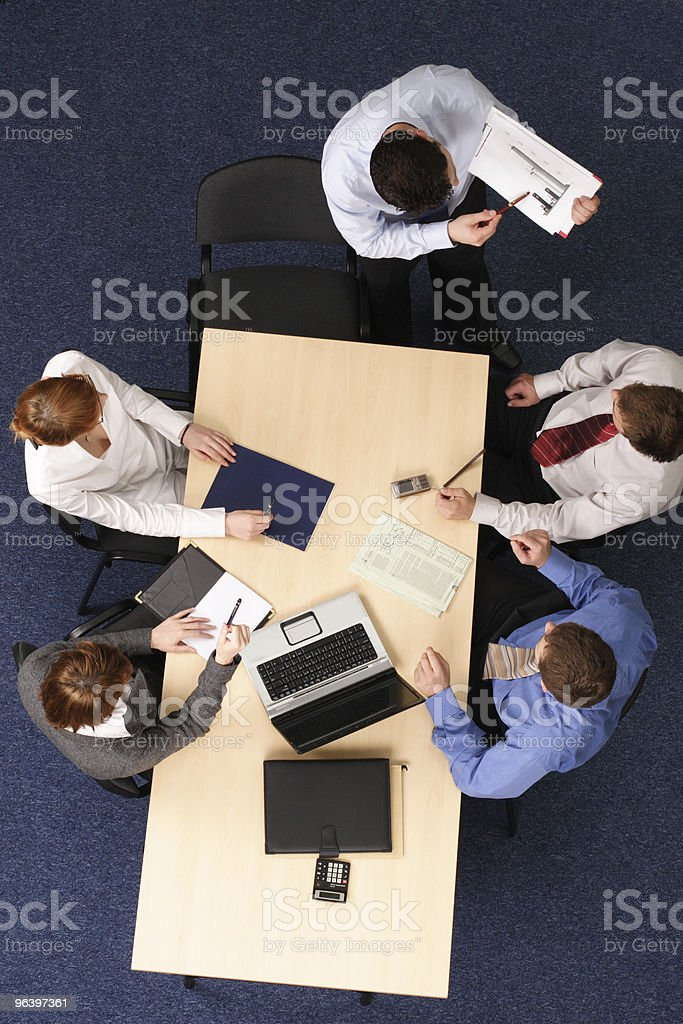 showing results at business meeting royalty-free stock photo