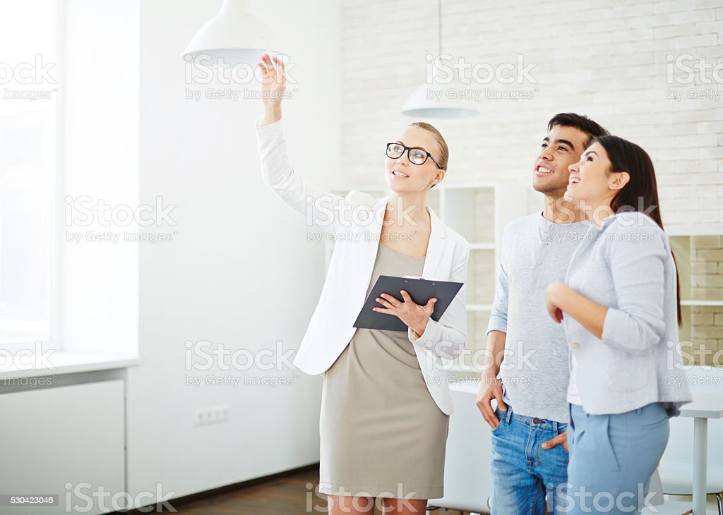 Showing room stock photo