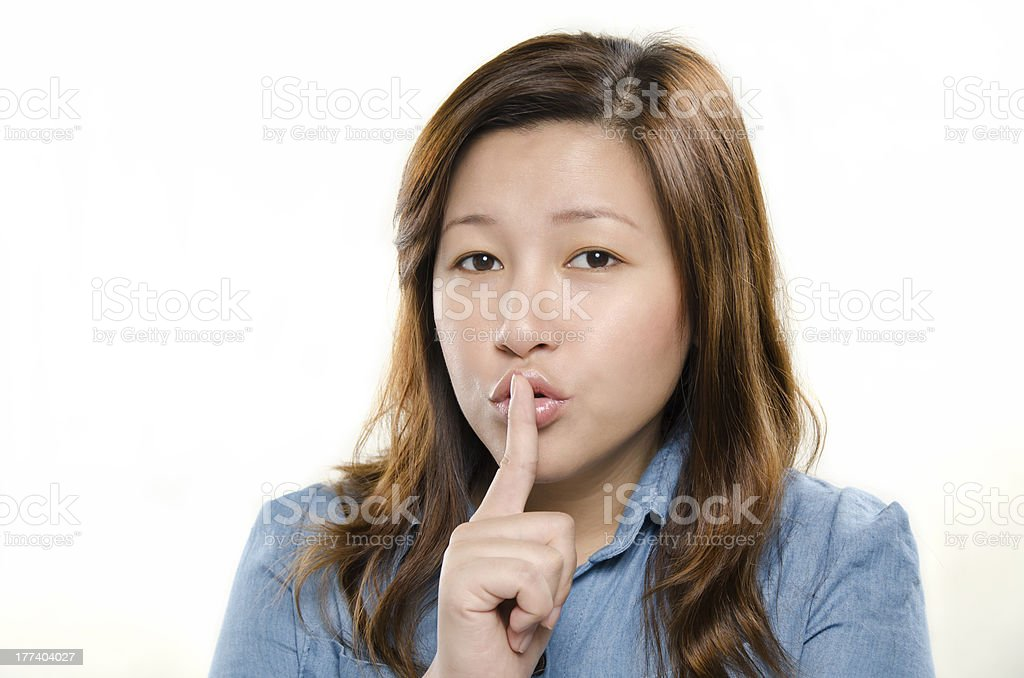 Showing silent sign stock photo