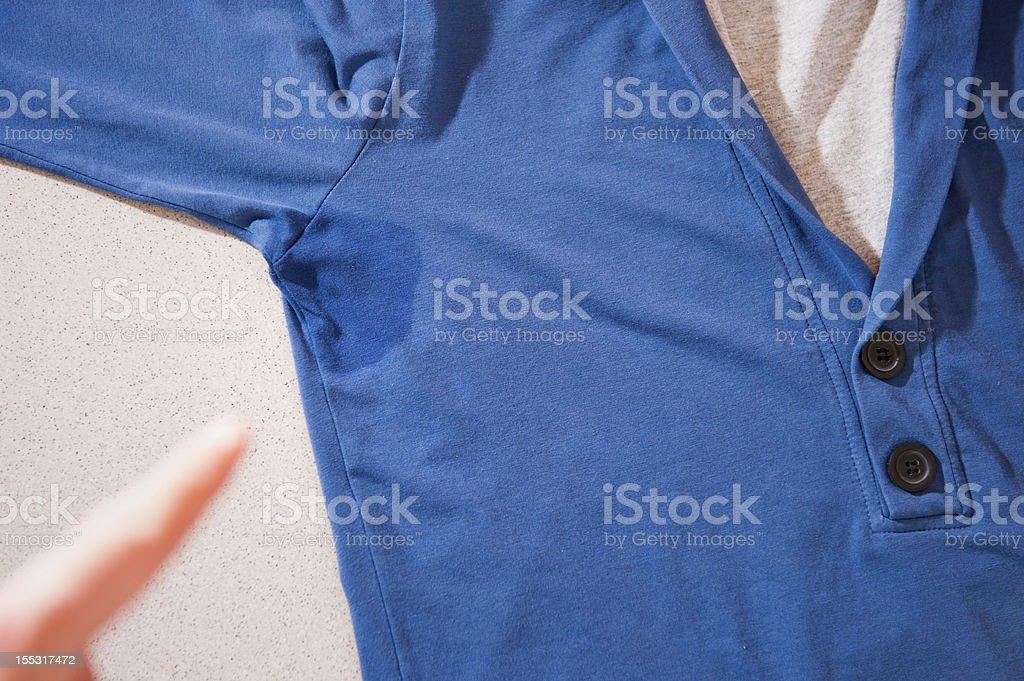 Showing sweat spot stock photo