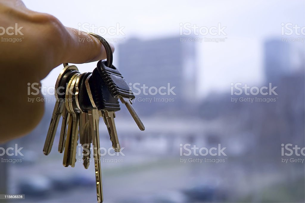 showing the apartment building royalty-free stock photo