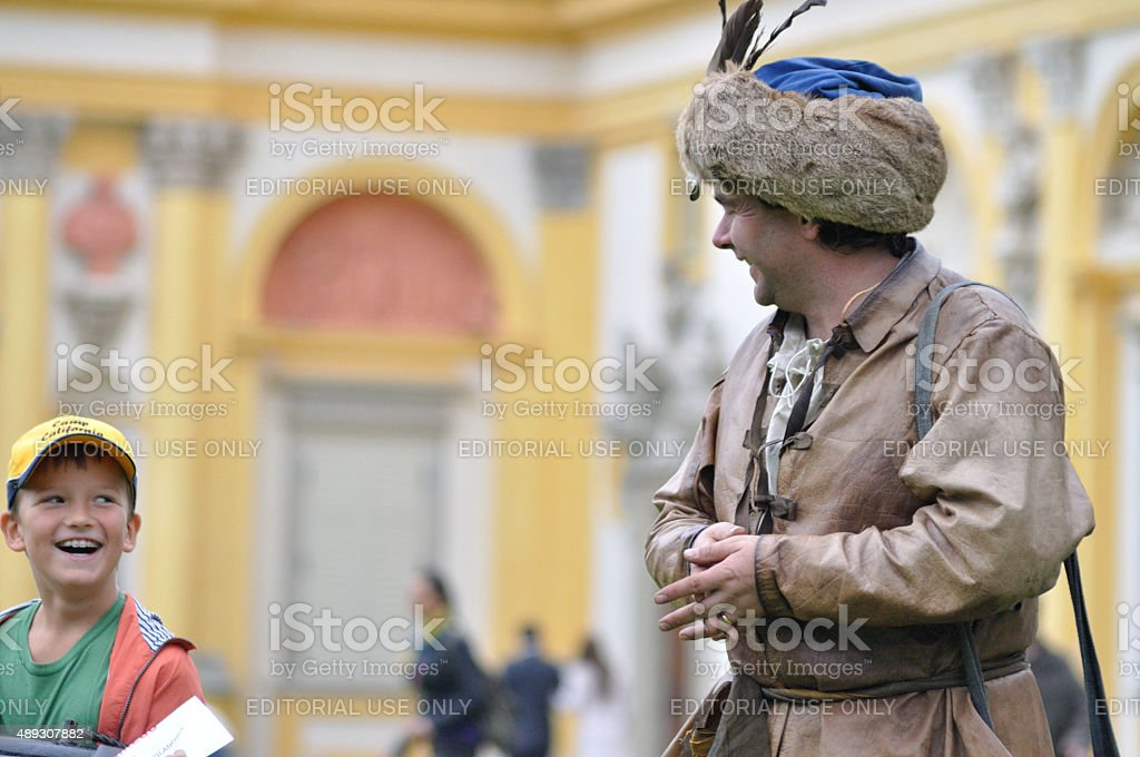 Showing the costume of the seventeenth century stock photo