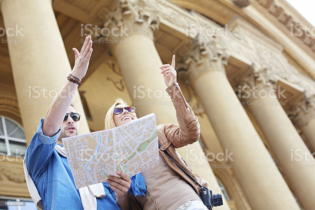 Showing the direction stock photo