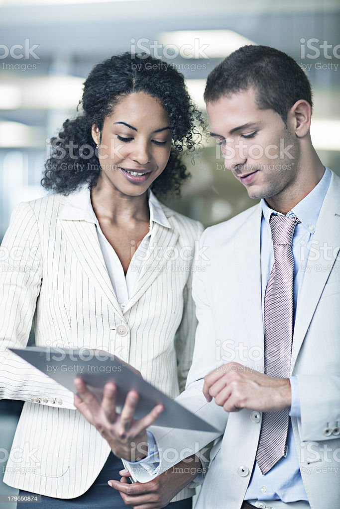 Showing the documents royalty-free stock photo