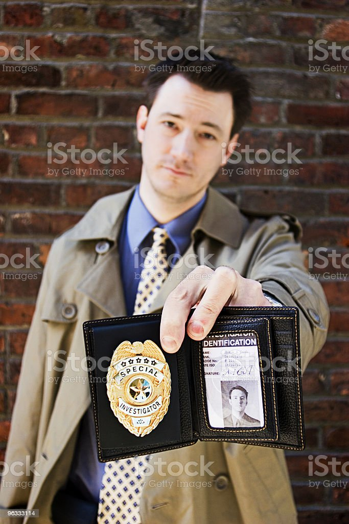 Showing the ID stock photo