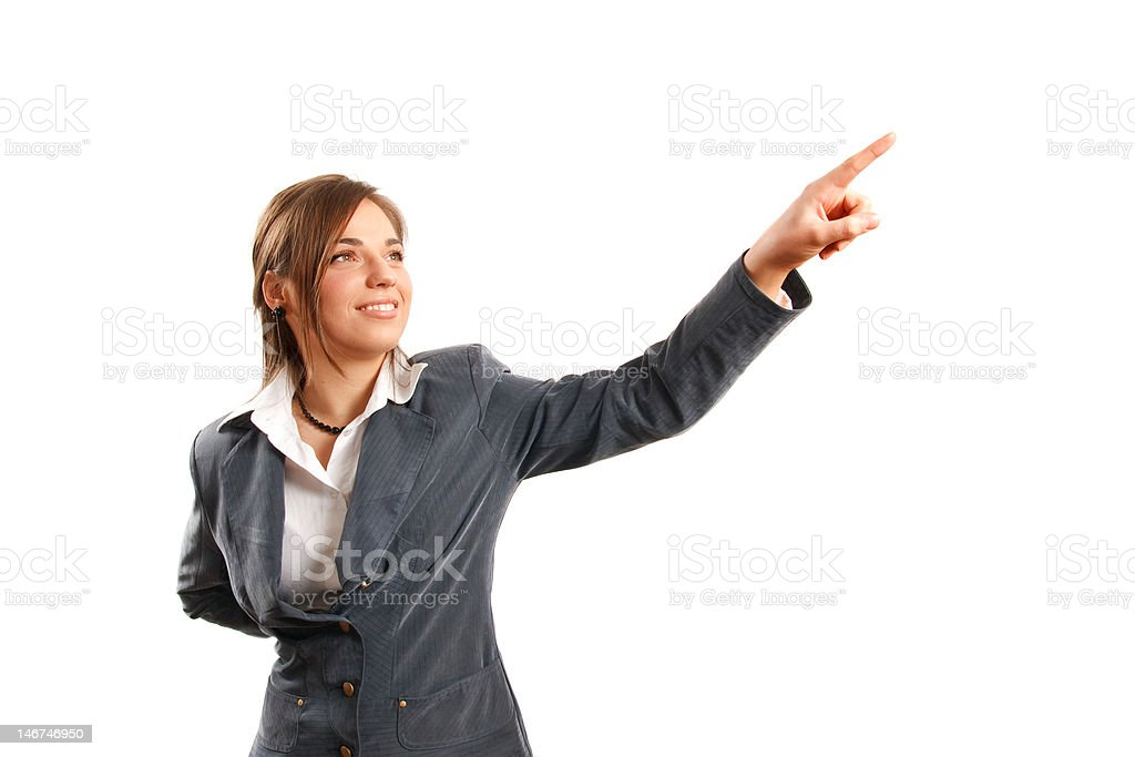 Showing the way royalty-free stock photo