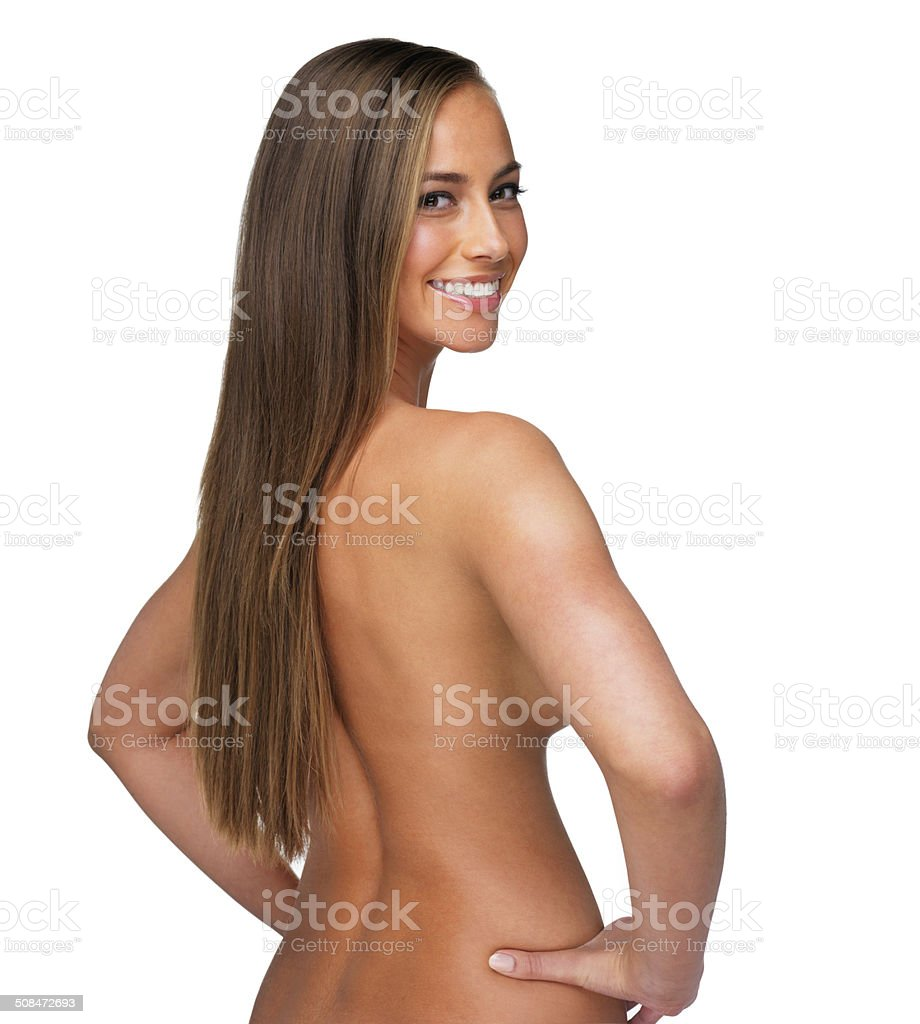 Showing you how smooth skin can be stock photo