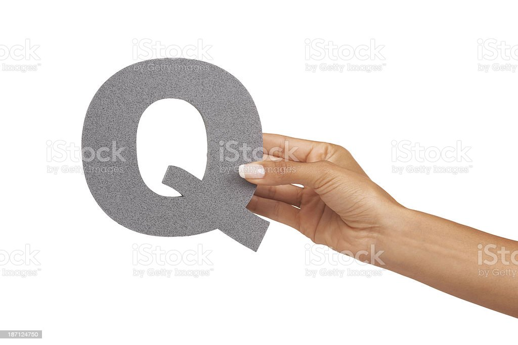Showing you the letter 'Q' royalty-free stock photo