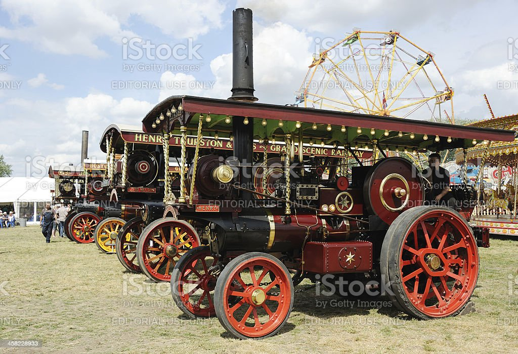 Showman's Traction Engines royalty-free stock photo