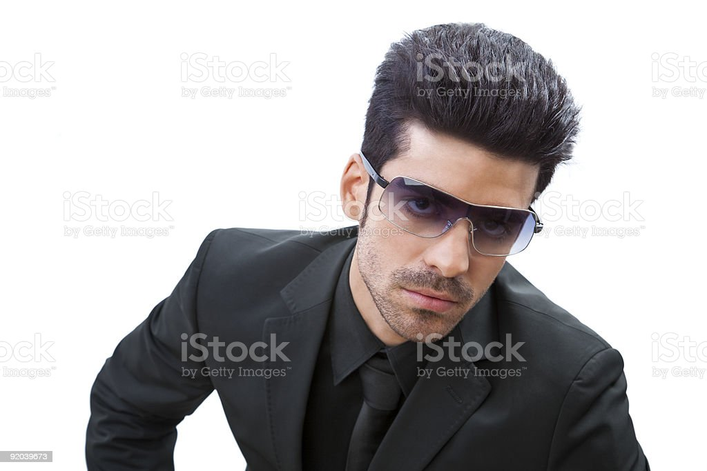 Show-off stylish man royalty-free stock photo