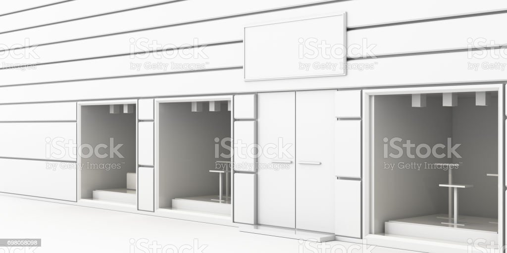 Showroom facade stock photo