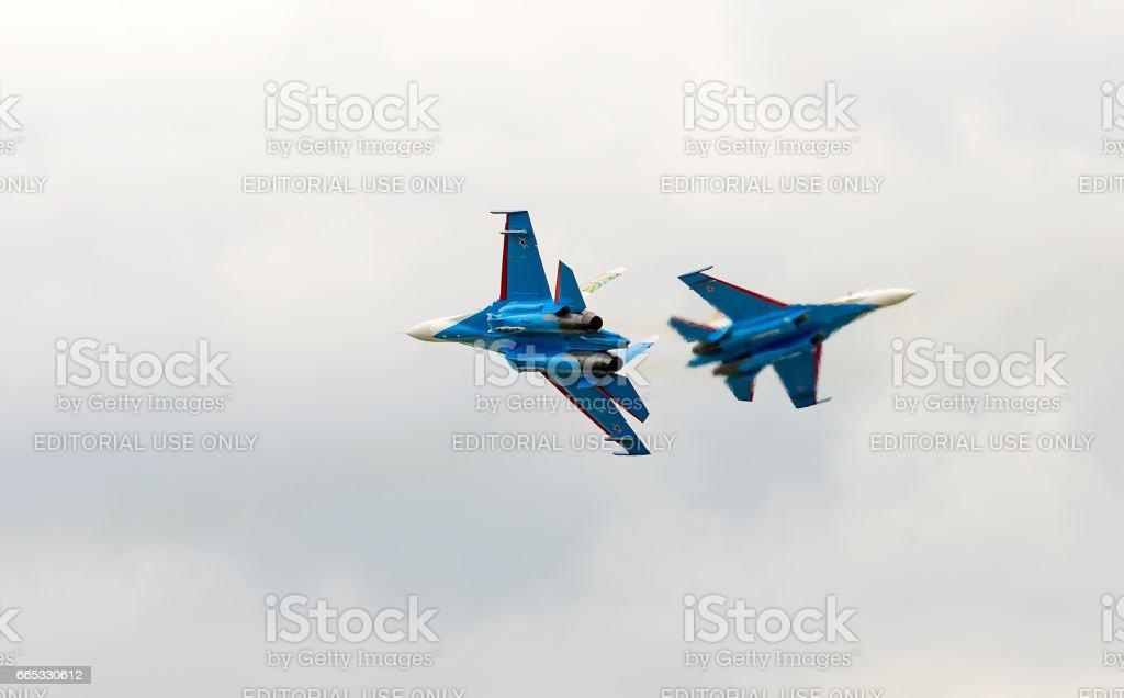 Shows demonstration flight stock photo