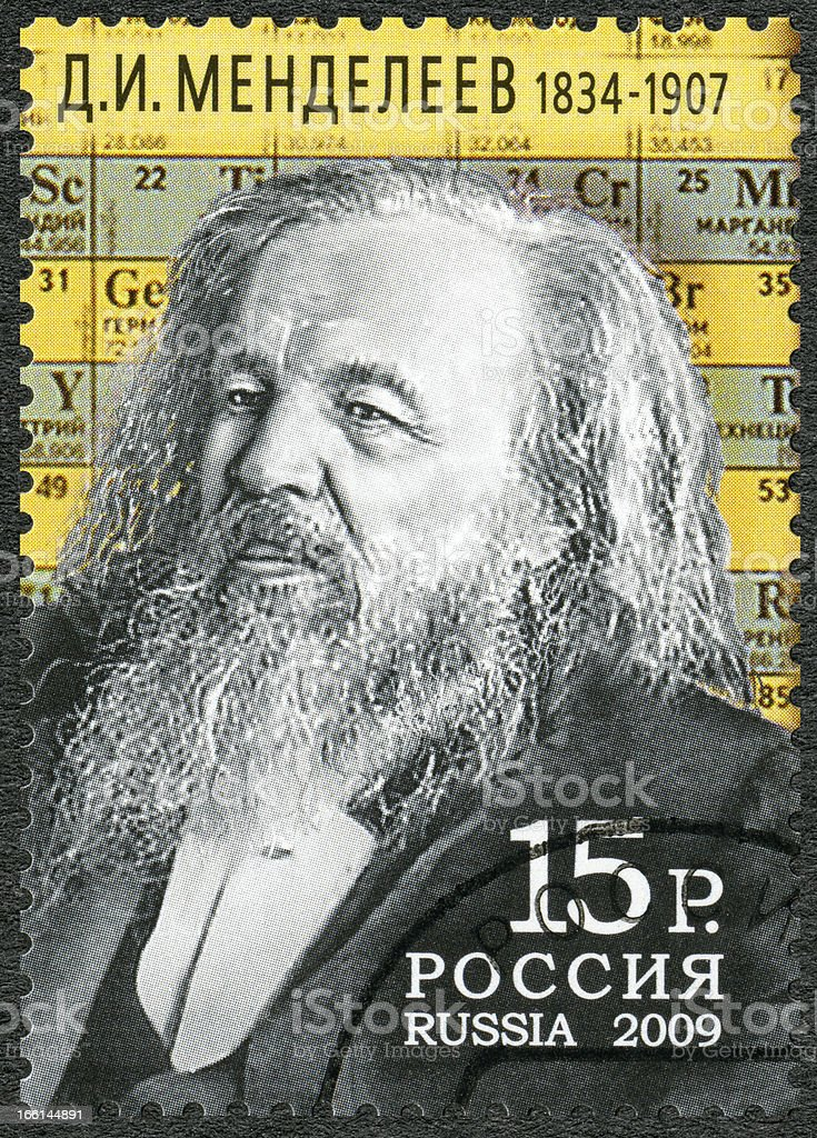 RUSSIA 2009 shows Dmitri Mendeleev (1834-1907) royalty-free stock photo