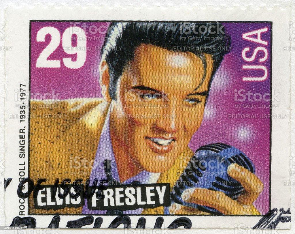 USA 1993 shows Elvis Presley stock photo