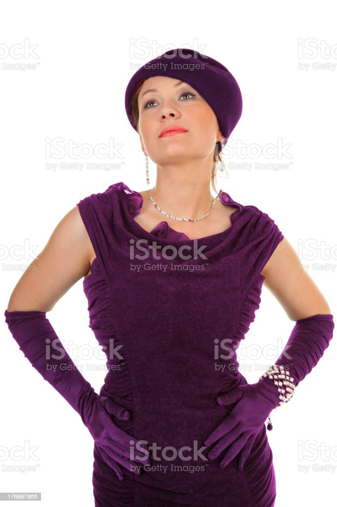 showy lady royalty-free stock photo