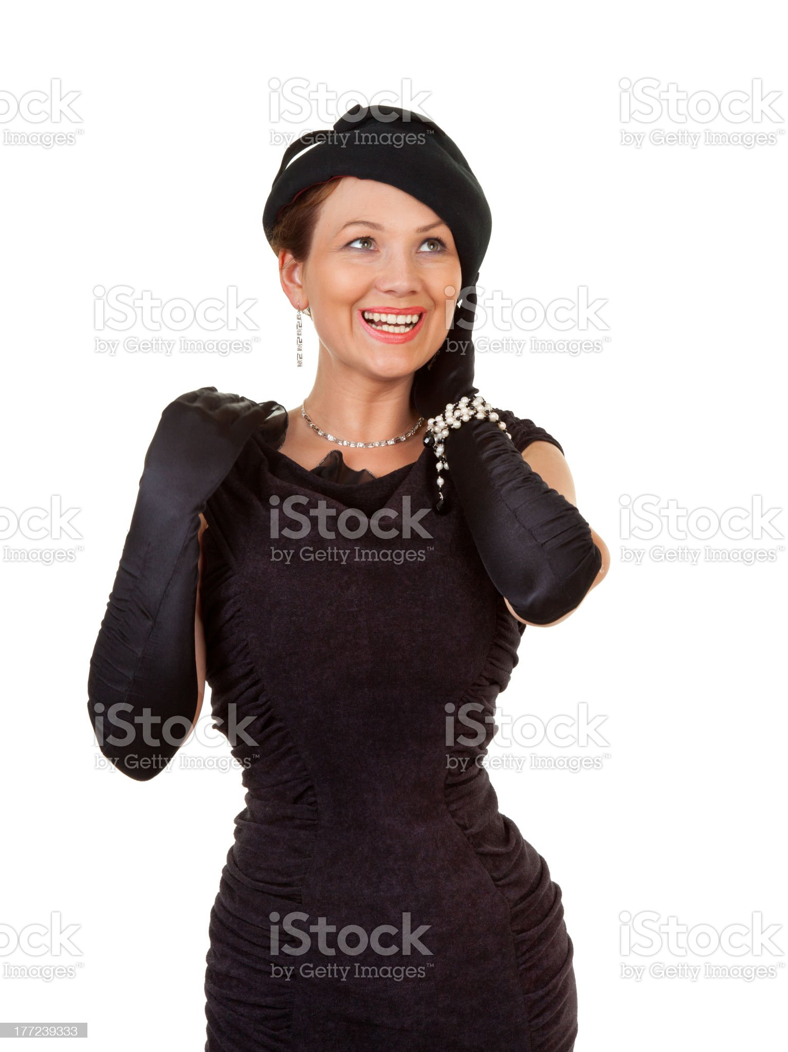 showy lady royalty-free stock photo