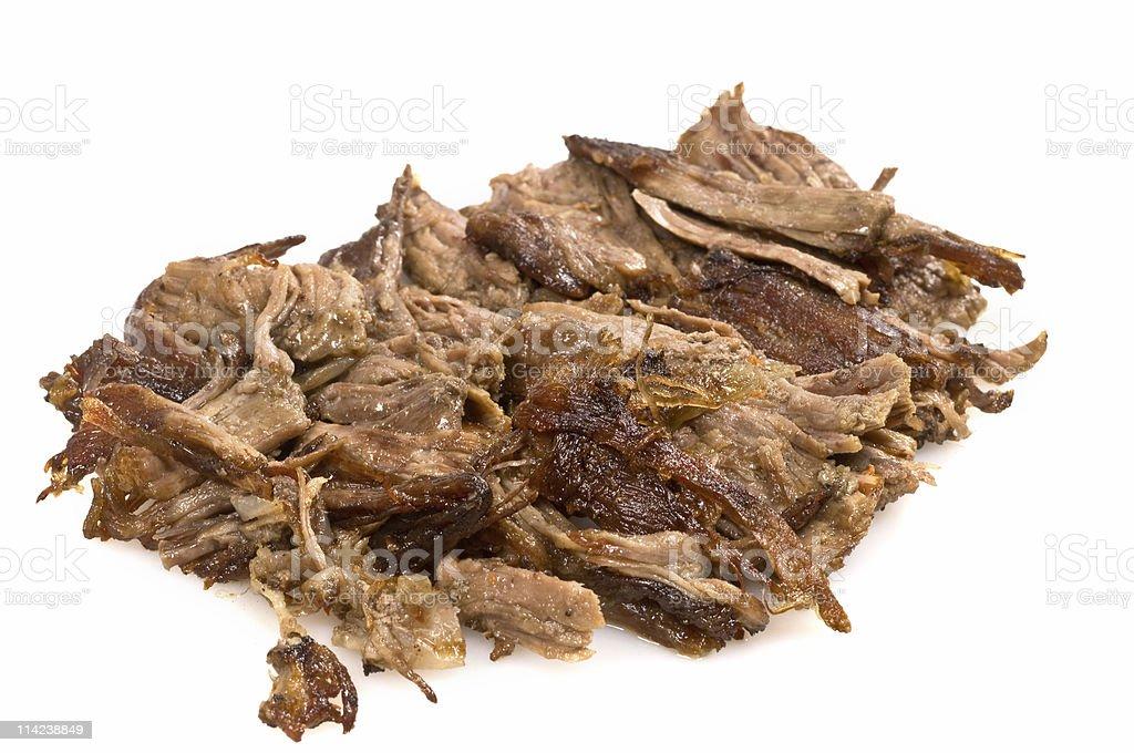shredded beef royalty-free stock photo